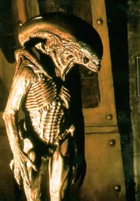 Poster ALIEN 3 - picture of skeleton monster