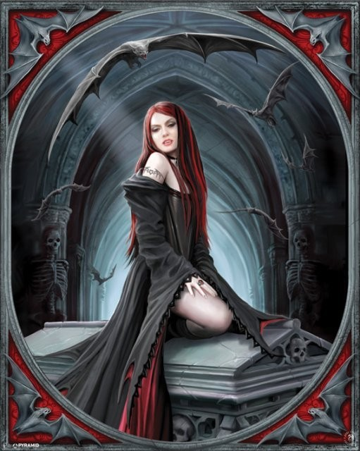 Poster ANNE STOKES - await