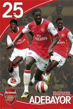 Poster Arsenal - adebayor 07/08