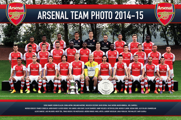 Poster Arsenal FC - Team Photo 14/15