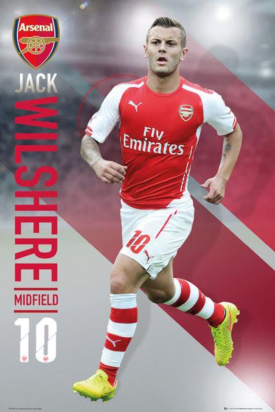 Poster Arsenal FC - Wilshere 14/15