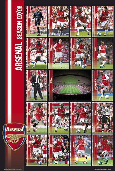 Poster Arsenal - squad profiles 07/08