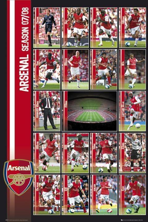 Poster Arsenal - squad profiles 07/08