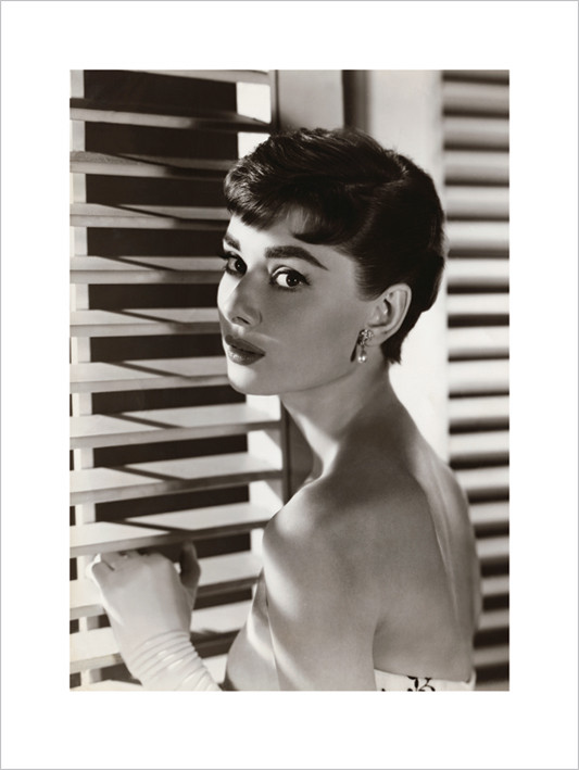 Audrey Hepburn - Blinds  Kunstdruck