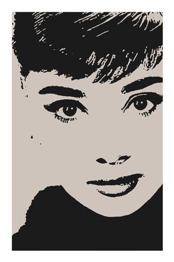 Poster AUDREY HEPBURN - by avela