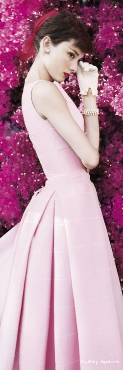 Poster AUDREY HEPBURN - flowers