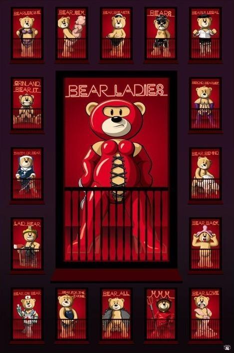 Poster Bad taste bears - red light
