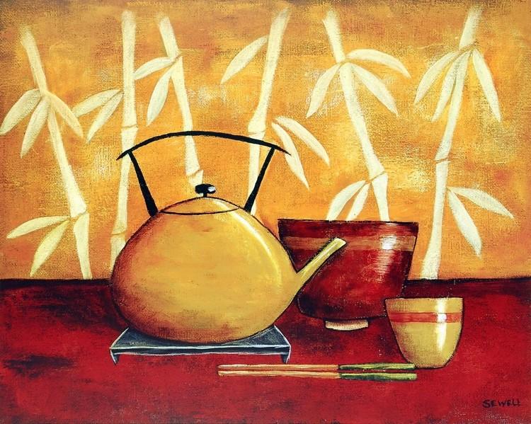 Bamboo Tea Room I Kunstdruck