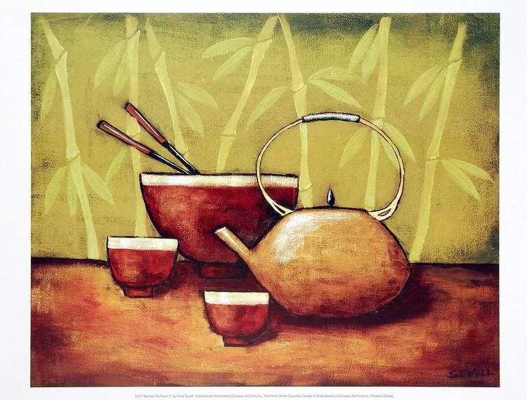 Bamboo Tea Room II Kunstdruck