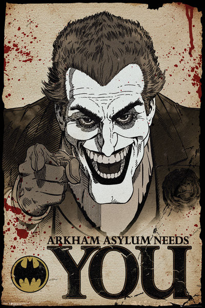 Poster Batman Comic - Joker Needs You