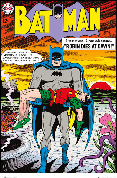 Poster Batman Comic - Robin Dies at Dawn