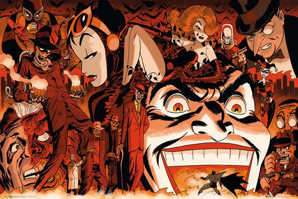Poster Batman Comic - Villains