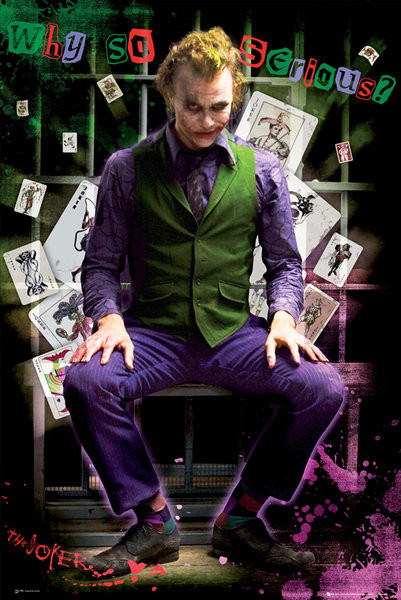 Poster BATMAN DARK KNIGHT - joker jail