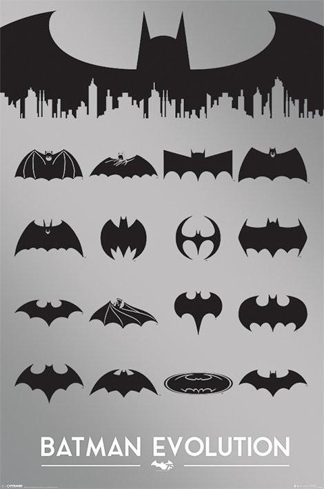 Poster Batman - die Entwicklung