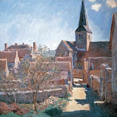 Bennecourt, 1885 Kunstdruck