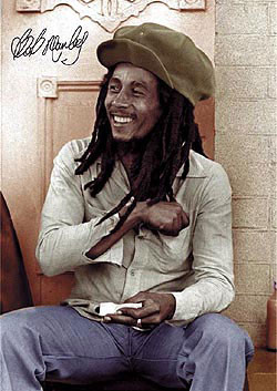 Poster Bob Marley - rolling 2