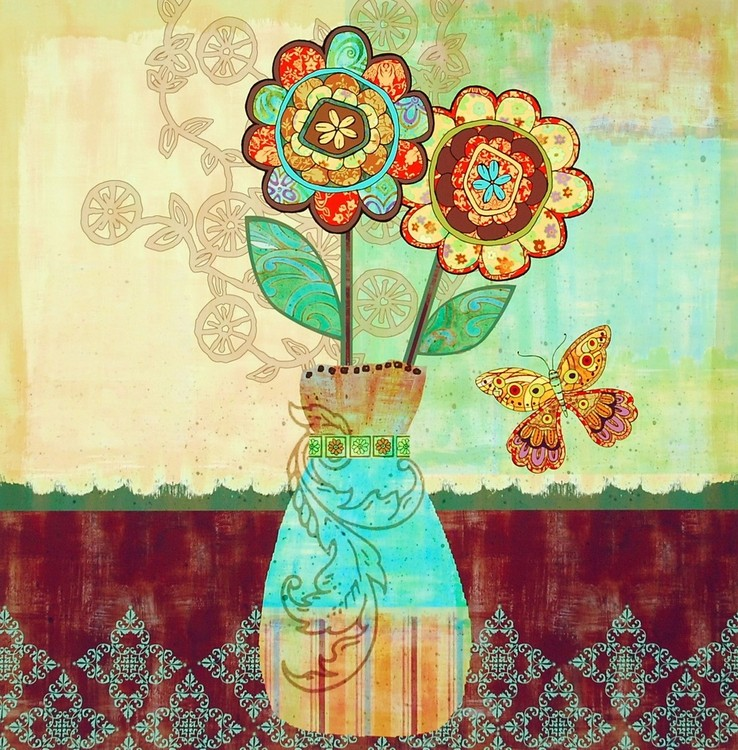 Poster Bohemian Floral II