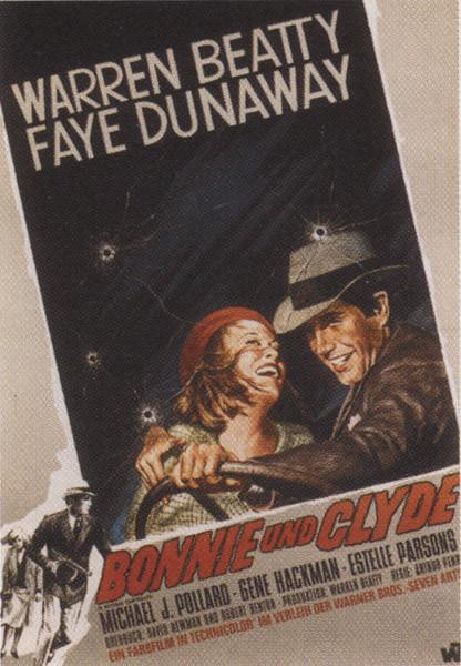 Poster Bonnie und Clyde - Faye Dunaway, Warren Beaty
