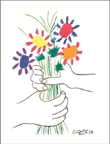 Bouquet Kunstdruck