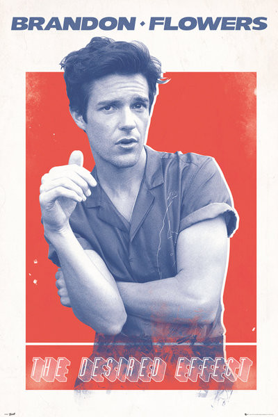 Poster Brandon Flowers - Desired Effect