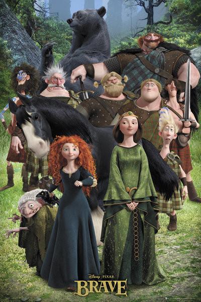 Poster BRAVE - cast