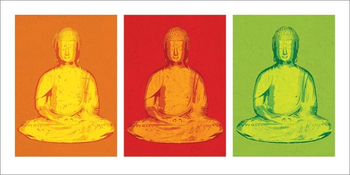 Buddha - Pop Art Kunstdruck