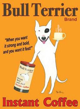 Bull Terrier Brand Kunstdruck