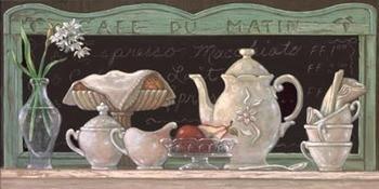 Cafe Du Matin Kunstdruck