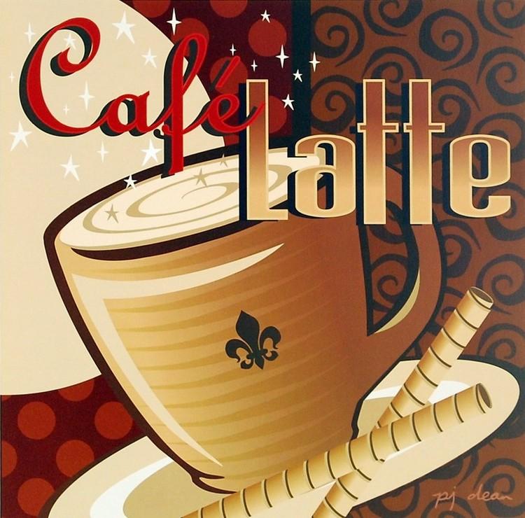 Poster Cafe Latte