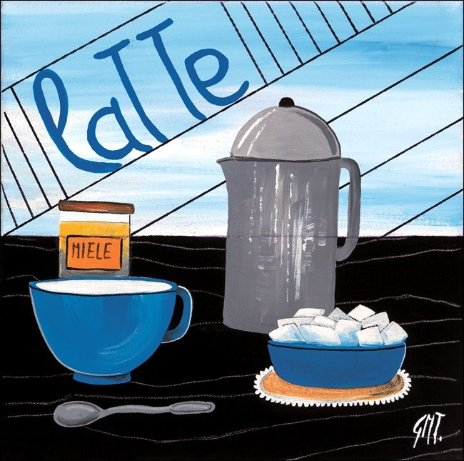 Caffè latte Kunstdruck
