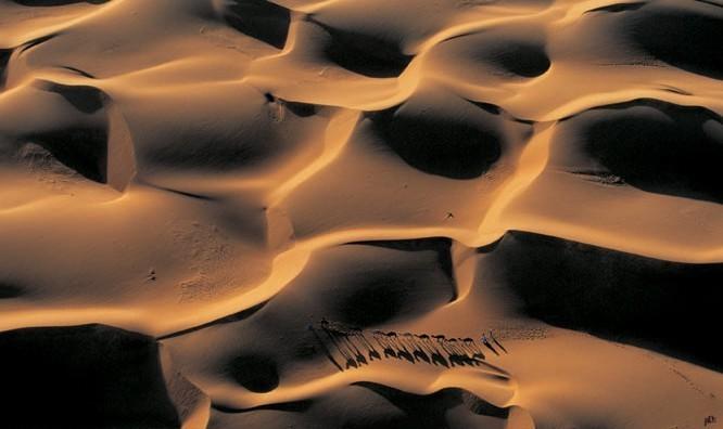 Caravane de dromadaires de Nouakchott Kunstdruck