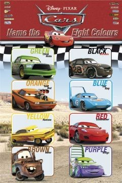 Poster CARS - colours