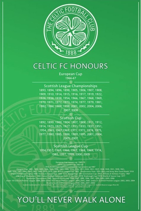 Poster Celtic - honours