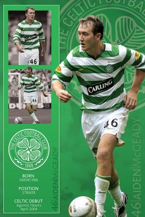 Poster Celtic - mcgeady