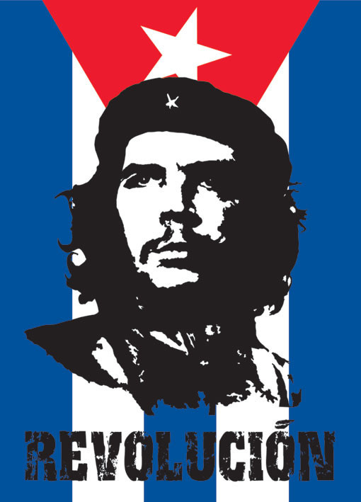 Poster Che Guevara - flag
