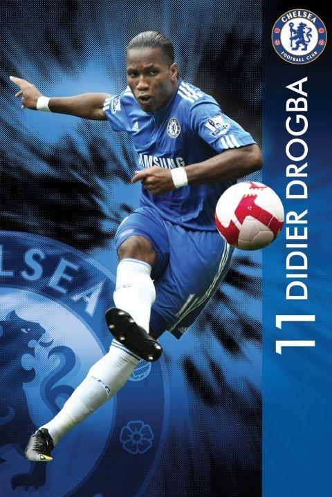 Poster Chelsea - drogba 09/10