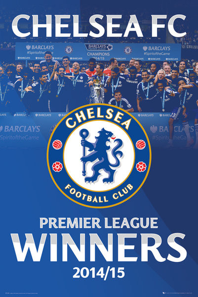 Poster Chelsea FC - Premier League Winners 14/15 Alt