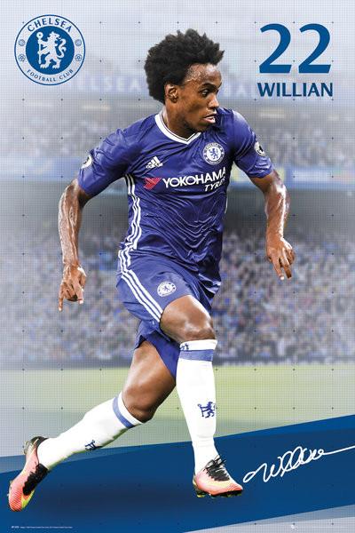 Poster Chelsea - Willian 16/17