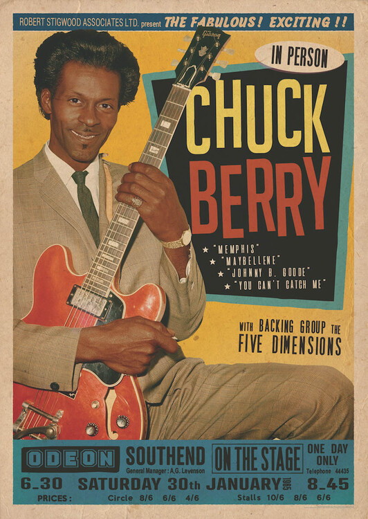 Póster Chuck Berry at the Odeon - Southend