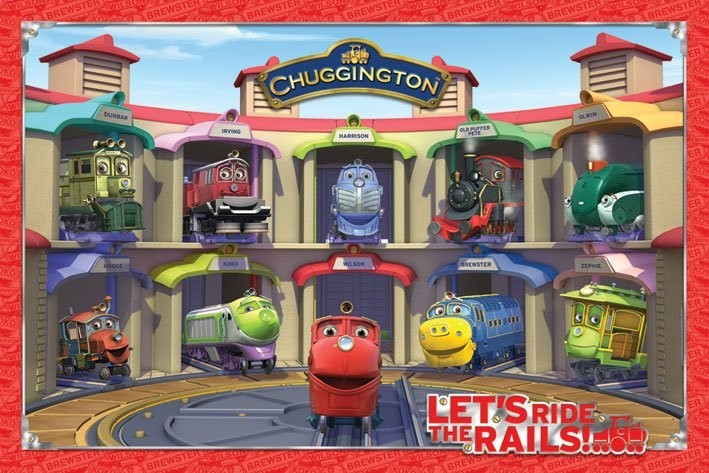 Poster CHUGGINGTON - friends