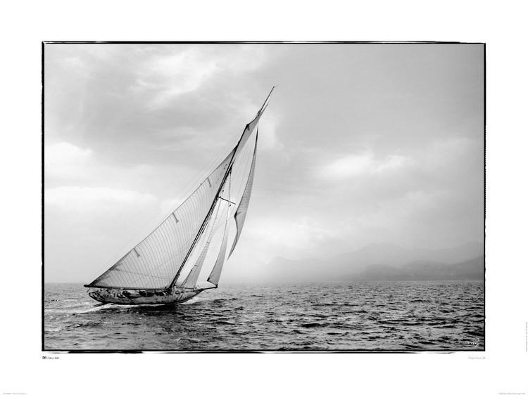 Classic yacht Kunstdruck