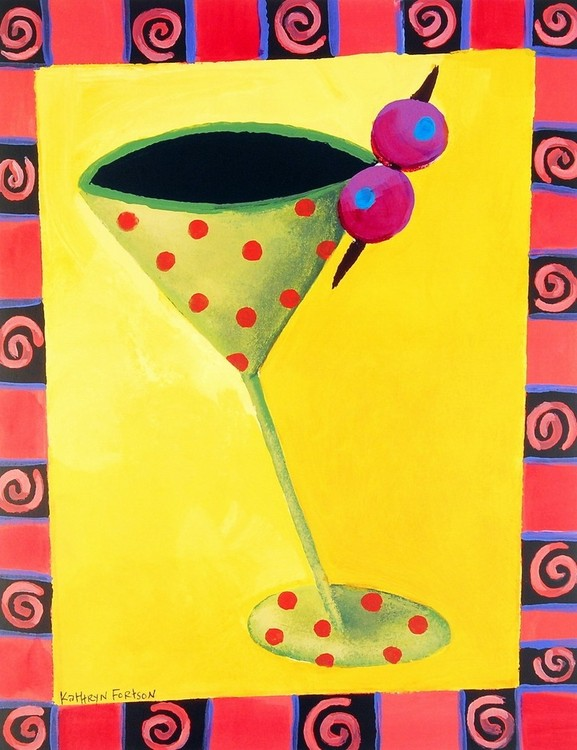 Cocktail Whimsy II Kunstdruck