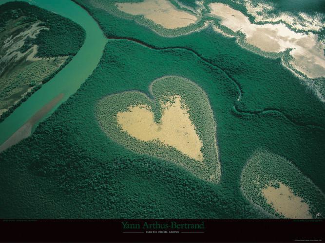 Coeur de Voh - Nouvelle-Calédonie Kunstdruck