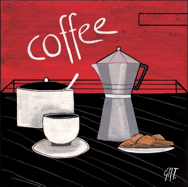 Konsttryck Coffee