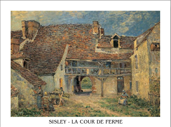 Poster Courtyard of Farm at St. Mammes, 1884