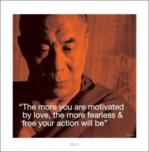 Dalai Lama - Quote Kunstdruck