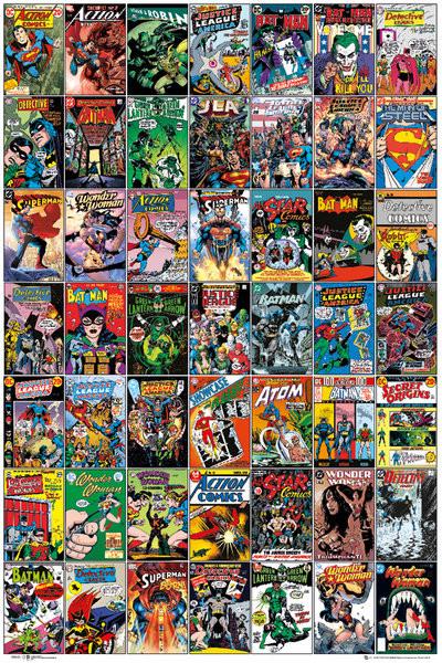 Poster DC COMICS - comic covers