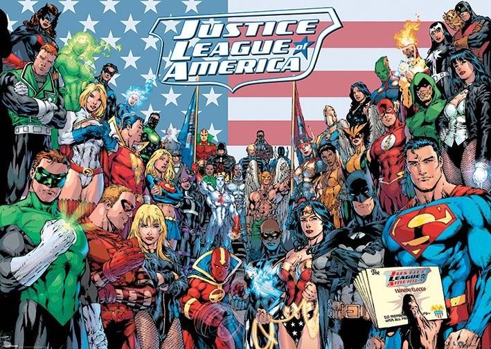 Poster DC COMICS - jla classic group