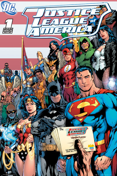 Poster DC COMICS - justice league cover