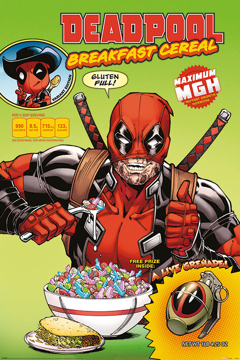 Плакат Deadpool - Cereal